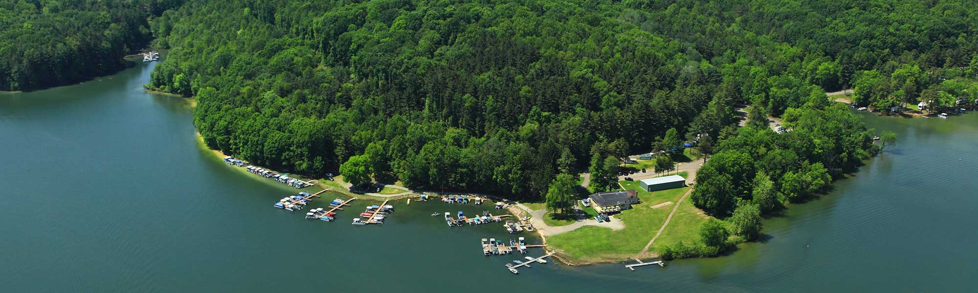 Situated on Leesville Lake